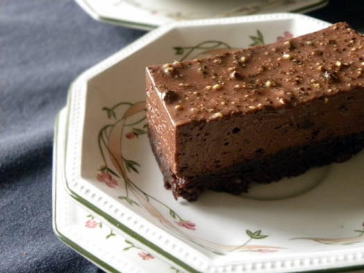 Black Pepper and Chocolate Mousse Cake
