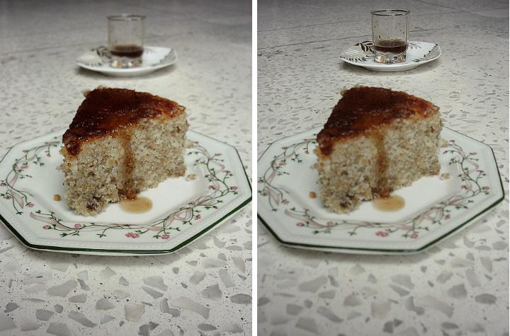walnut cake with tamarind sauce