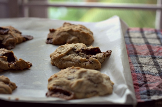 trashy chocolate & almond cookies