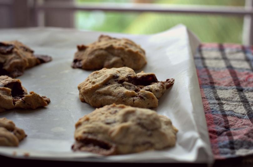 trashy chocolate & almond cookies