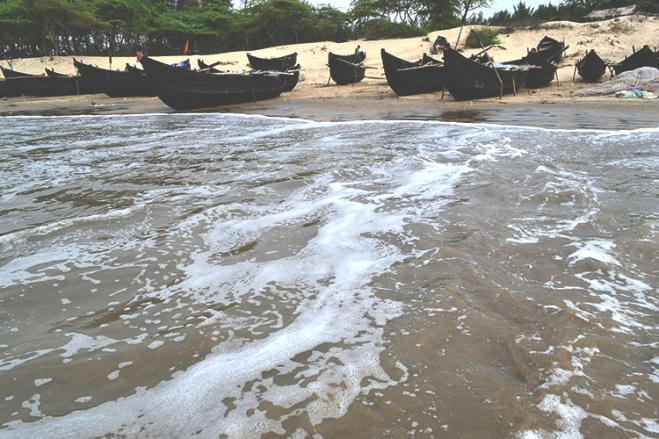 fishing boats on the beach